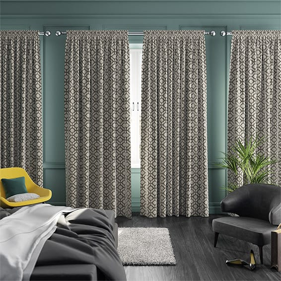 roomset of elegant curtains in a modern setting