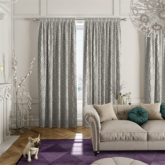 Roomset Of Elegant Curtains In A Modern Setting Part 59