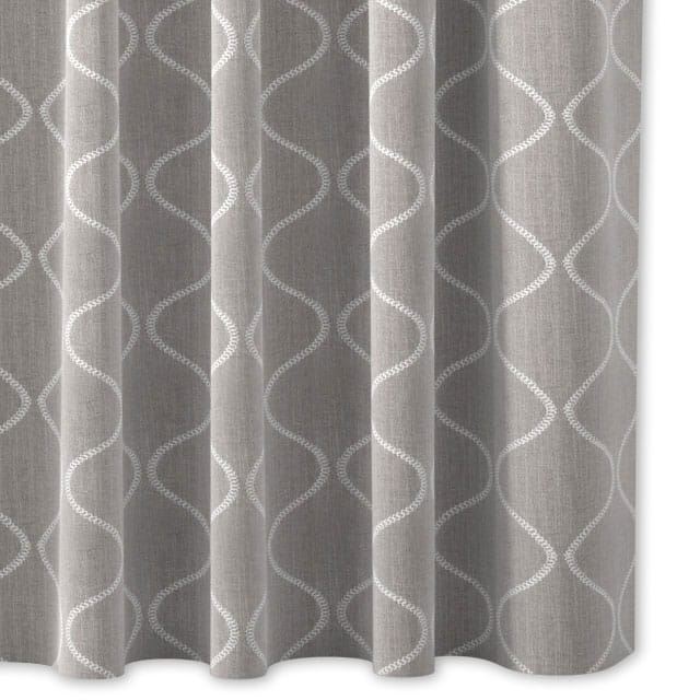 Grey And White Curtains Uk Part - 19: Close Up Cutout Of Curtain On White Background