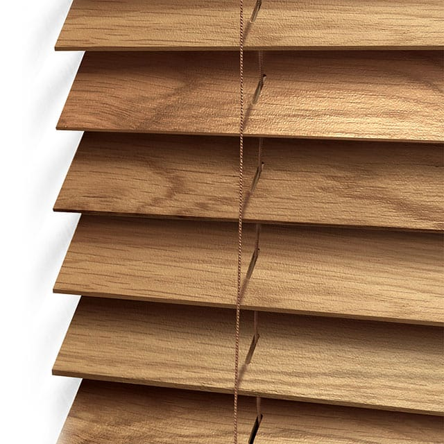 wooden blinds close up
