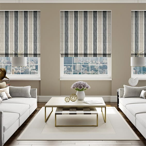 classic roman blinds in a modern setting
