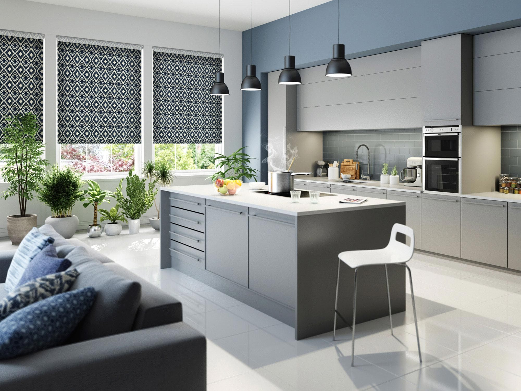 Roller Blinds For Kitchens Roller Blinds By Tuissr Designer Blinds Featuring Sheer Voile